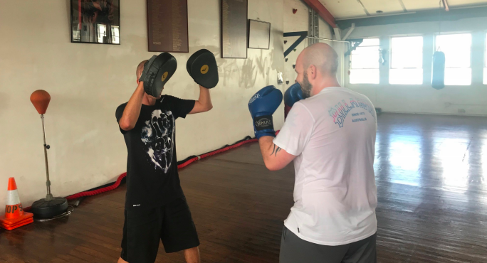 Private boxing lessons with Pablo